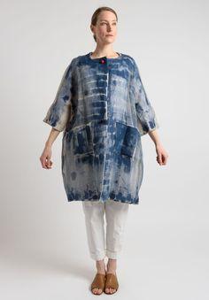 Daniela Gregis - Dyed Long Jacket in Natural