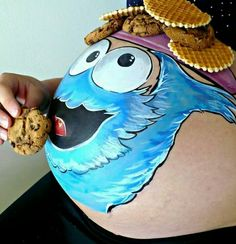 Cookie Monster Pregnant Belly