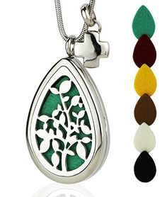 "Teardrop Aromatherapy Essential Oil Diffuser Necklace Locket Pendant Hypo-Allergenic 316L Surgical Grade Stainless Steel With Premium 24"" Snake Chain and 6 Refill Pads, http://www.amazon.com/dp/B019JP6KF0/ref=cm_sw_r_pi_awdm_qi2cxb0N127RY"