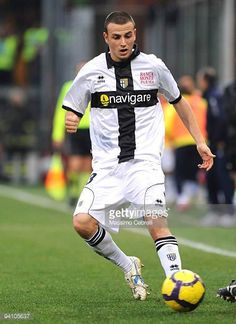 Luca Antonelli of Parmma FC in action during the Serie A match between Genoa CFC and Parma FC at Stadio Luigi Ferraris on December 6 2009 in Genoa...
