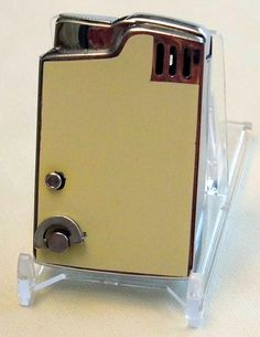 Vintage Musical Cigarette Lighter by Blue Bird, First National Bank in St. Louis, Made in Japan.