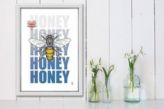 honey bee decor,  for kitchen, nature  lover gift,  home decor, printable, bee decorations, honey bee wall decor, Bee Decorations, Printable Art, Printables, Kitchen Posters, Candlemaking, Gifts For Nature Lovers, Alcohol Ink Painting, Etsy Business, Kitchen Wall Art