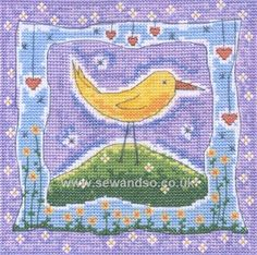 Buy Birdy Brow Cross Stitch Kit Online at www.sewandso.co.uk