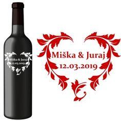 Svadobná etiketa Aida Wine, Drinks, Bottle, Drinking, Beverages, Flask, Drink, Jars, Beverage