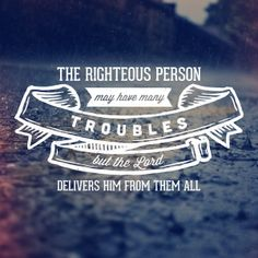 Many Troubles - Psalm 34:19 Art Print by Word Snackers | Society6