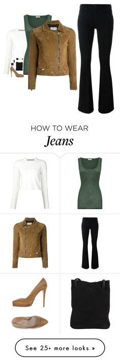 """""""Victoria Victoria Beckham - Flared Jean Style"""" by twinklebluegem on Polyvore featuring Proenza Schouler, American Vintage, Yves Saint Laurent, Bobbi Brown Cosmetics, Le Silla, Victoria, Victoria Beckham, 7 Chi and Marc by Marc Jacobs"""