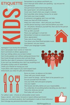 Teach your children etiquette (manners) and set them up for a lifetime of success.