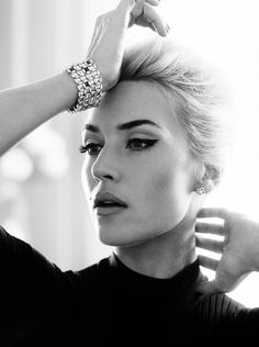Kate Winslet. I usually don't pin people on this board, but she is gorgeous and I have a serious girl-crush on her.