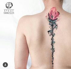flower, color, back, tatoo