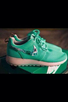Teal tribal Nike roshe