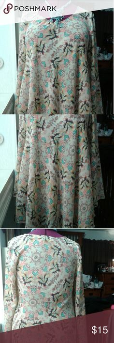 Papillon Tunic EUC Papillon colorful sheer Tunic with long,voluminous sleeves. BUNDLE ONLY. Tops Tunics
