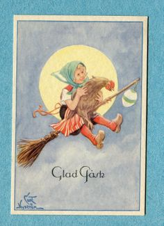 Curt Nystrom postcard | eBay Chicken Painting, Make Believe, Nursery Rhymes, Vintage Children, Illustrators, Postcards, Fairy Tales, Witch, Miniatures