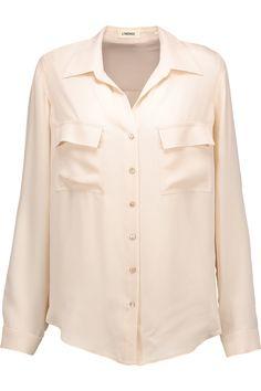 L'AGENCE Margaret Silk Shirt. #lagence #cloth #shirt