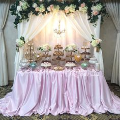 "955 Likes, 21 Comments - Bizzie Bee Creations By Iris🐝 (@bizziebeecreations) on Instagram: ""Wedding candy dessert table by @bizziebeecreations #wedding #backdrop #events #eventdecor…"""
