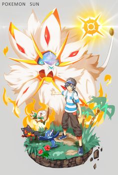 pokemon sun and moon - rowlet, litten, popplio