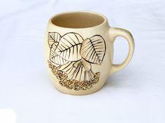 """Rewers """"Lime Tree"""" hand-painted ceramic mug. """"Lipa"""" kubek ceramiczny ręcznie malowany.poj 400ml by Benusha-ceramika"""