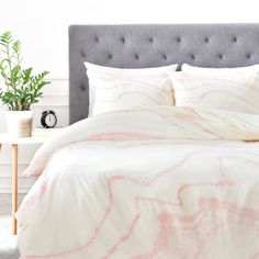 Rebecca Allen Blush Marble Duvet Cover - DENY Designs - $159 - domino.com