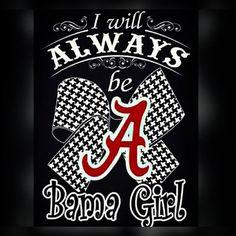 I will always be a Bama Girl Alabama Football Funny, Alabama College, University Of Alabama, College Football, Football Stuff, University College, American Football, Crimson Tide Football, Monogram