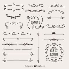 Super easy and super simple ornaments for bullet journal, planner, and school notes. Calligraphy Borders, Calligraphy Doodles, Bujo Doodles, Border Design, Line Design, Design Art, Bullet Journal Inspiration, Journal Ideas, Grafik Design