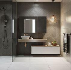 Timberline Milan Vanity a cutting-edge floating vanity design. Milan vanity brings true Italian styling sleek lines and striking geometry. Restroom Design, Modern Bathroom Design, Bathroom Interior Design, Modern Interior Design, Bathroom Designs, Steam Showers Bathroom, Small Bathroom, Bathroom Beadboard, Bathroom Layout