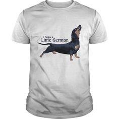 I Know a Little German Funny Dachshund TShirts