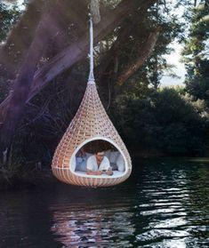 50 Korbhängesessel - coole Wohnideen für Hängesessel mit Gestell