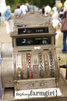 this old cash register will blend right in with the renew and reuse theme