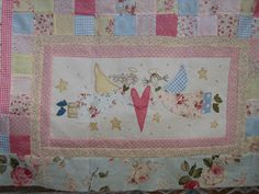 Susanpatch: Angel story quilt TERMINADO Hatch Patch, Annie Downs, Angel Stories, Happy Stories, Embroidery Applique, Quilts, Blanket, Challenge, Blue