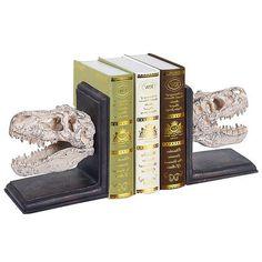 Design Toscano T-Rex Dinosaur Cast Iron Sculptural Bookends Top Gifts, Best Gifts, Dinosaur Nursery, Thing 1, Gift Finder, Creature Comforts, T Rex, Home Interior Design, Bookends