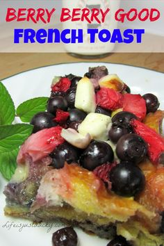 Berry Berry French Toast - This overnight breakfast casserole was so easy to make. Layer the bread, berries and egg mixture. Put it in the refrigerator. Pull it out in the morning and bake. This is the best french toast recipe to make in the oven. Don't forget to check out the secret ingredient.
