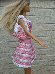 Crocheted Barbie clothes – 10 free patterns                                                                                                                                                      More