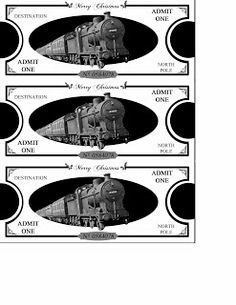 Polar Express Tickets printables! www.mommywillplay.blogspot.com