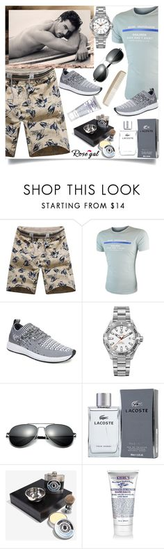 """Rosegal 51"" by mell-2405 ❤ liked on Polyvore featuring TAG Heuer, Lacoste, Kiehl's and Men's Society"