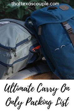 If you're considering traveling with only a backpack then this ultimate carry on only packing list is just what you need! Travel Tips Tips Travel Guide Hacks packing tour Packing For Europe, Packing List For Travel, Packing Lists, Packing Hacks, Traveling Europe, Travelling Tips, Travel Gadgets, Travel Hacks, Travel Advice