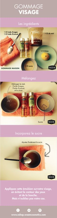 Recette : Mélangez soigneusement lhuile, le miel et le jus du citron. Beauty Tips For Face, Beauty Box, Beauty Secrets, Beauty Care, Diy Beauty, Beauty Hacks, Homemade Acne Treatment, Magic Recipe, Homemade Cosmetics