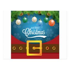 Merry Christmas Santa Suit Postcard - merry christmas postcards postal family xmas card holidays diy personalize
