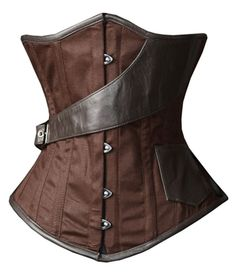 Amazon.com: Camellias Brown Underbust Steampunk Airship Waist Training Corset: Clothing