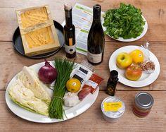 """Auch die zweite TastyBox des Monats Februar verprach' Einiges: """"Spitzkrautfleckerl, Feldsalat mit Walnuss- Vinaigrette und Apfeltarte mit Vanilleeis"""" - Foodiesquare ❤ TastyBox zum Kochen! ;-)"""