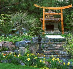 gartenteich im japanischen stil im hinterhof | garden/landscaping, Garten ideen