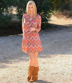 The Stylish Housewife in her pair of Minnetonka 3-Layer Fringe boots