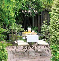 Outdoor dining spot