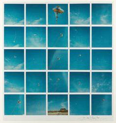 Lucien Clergue, Le Cerf Volant, Bretagne, 1984, Polaroid SX-70 Time Zero. © Lucien Clergue