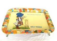 Vintage Holly Hobbie Collectible Tin Tray 1972 by NonabelleVintage