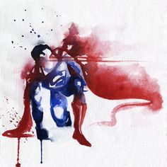 Wonderful Paintings Of Superheroes Made With Colorful Watercolor Splashes - DesignTAXI.com