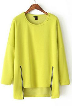 Loose zipper sweater