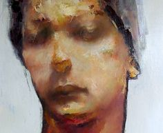 Paul W Ruiz  'Ciego'  From the Asylum Seeker Series of Works    2011  oil on linen   51 x 41 cm  sold