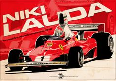 Niki Lauda - F1 1976 by Evan DeCiren, via Behance