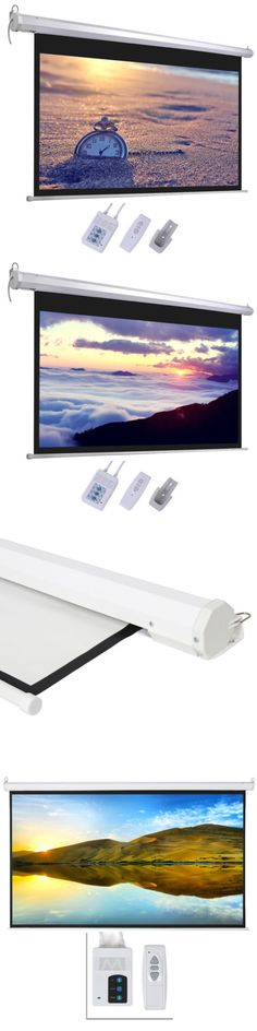 "Projection Screens and Material: New 100"" 16:9 Hd Foldable Electric Motorized Projector Screen + Remote Control -> BUY IT NOW ONLY: $51.99 on eBay!"
