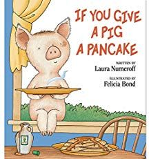 Chaos is the order of the day when an accommodating little girl tries to keep up with the whims of a busy little pig. Written by Laura Numeroff and illustrated by Felicia Bond. Hardcover, 32 pages. Number Games For Toddlers, Mouse A Cookie, Laura Numeroff, Pancakes And Pajamas, Bond, Pancake Day, Pajama Party, Little Pigs, Lessons For Kids