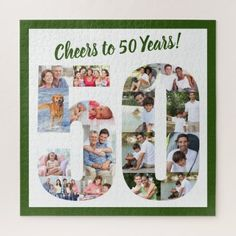 Custom Photo Jigsaw Puzzle | Zazzle.com Birthday Photo Collage, Birthday Photos, Photo Jigsaw Puzzle, Jigsaw Puzzles, Custom Gift Boxes, Customized Gifts, Unique 50th Birthday Gifts, Birthday Canvas, Personalised Jigsaw Puzzle
